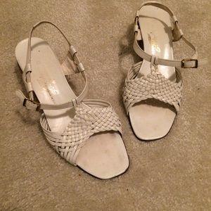 Shoes - White Italian Sandal Heels